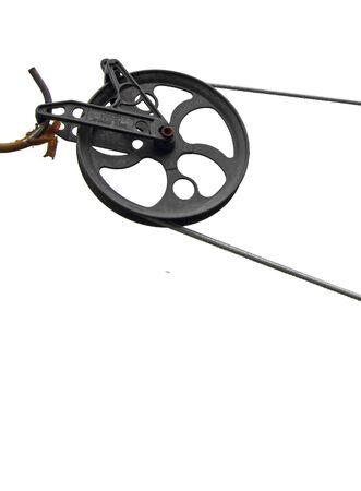 closeup of a clothesline mechanism