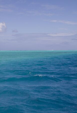 polynesia: turquoise lagoon in french polynesia