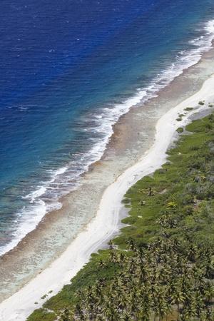 aerial view of the island of bora bora Stock Photo