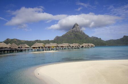 luxury resort in bora bora Editorial