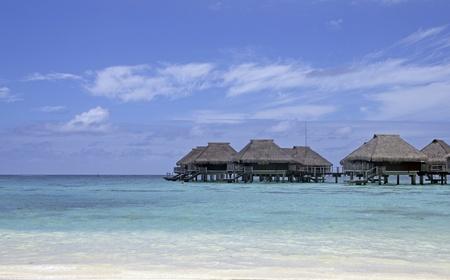 over water bungalows in bora bora island