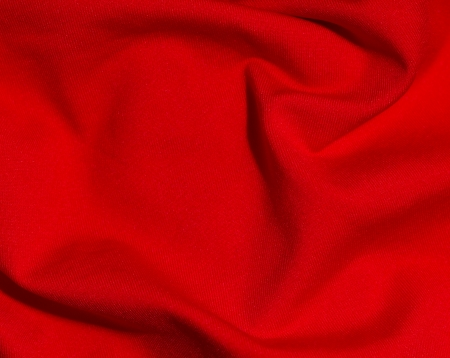material: macro image of a red satiny material