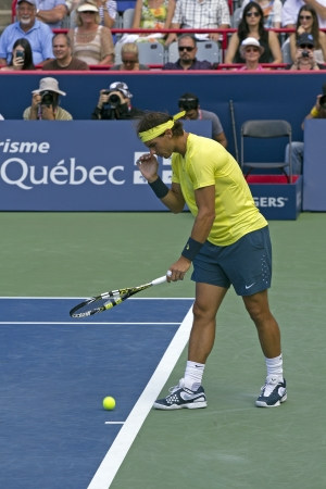 rafael nadal during the final in montreal 2013