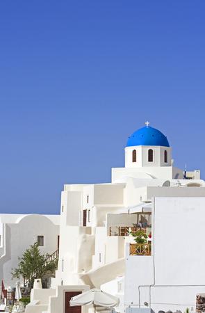 cycladic: classica chiesa Cicladi Santorini Grecia