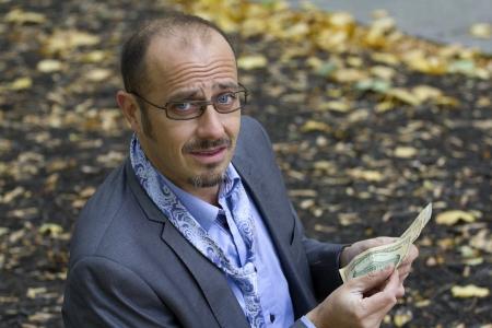 scared business man taken on the street photo