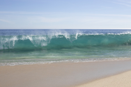 big wave on a tropical beach
