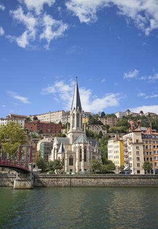 cityscape of old lyon france