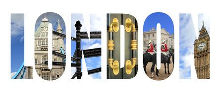 London cityscape letters