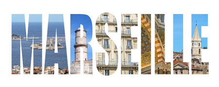 Marseille colorful landmarks letters