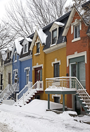 Colorful street of Montreal Canada photo