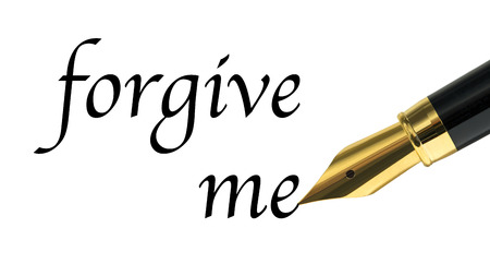 to forgive: Perd�name mensaje escrito con pluma estilogr�fica de oro