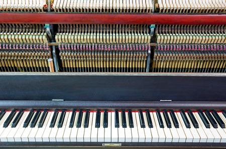 classical mechanics: Closeup of an open piano