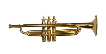 trompeta: Trompeta aislada Foto de archivo
