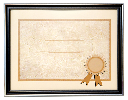 scroll border: Blank diploma
