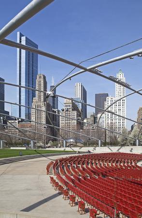american midwest: Millennium park in Chicago