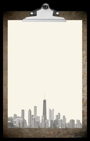 chicago city: Beautiful Clipboard with Chicago city paper