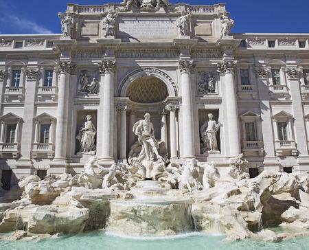 italian fountain: Rome, Italy - famous Trevi Fountain (Italian: Fontana di Trevi)