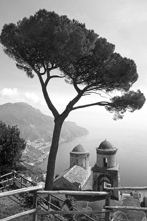 Famous Ravello churches in Italy, Black and white