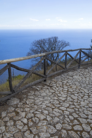 Medieval path on the top of Capri island, Italy