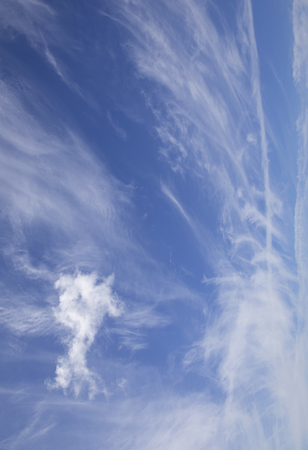 Blue sky with smoky clouds Stockfoto