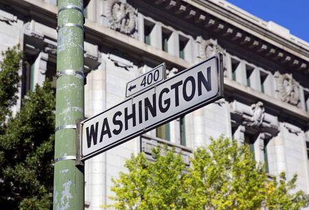 Washington street sign in San Francisco