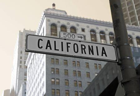 California street sign in San Francisco Stock fotó