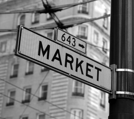 Market street sign in San Francisco Stock fotó