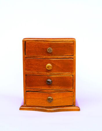 Wood cabinet old model content with drawer photo