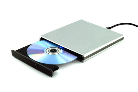 recordable media: CD & DVD External Portable on white background