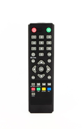 TV remote control isolated on white photo
