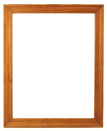 wood frame for a picture, isolated on white photo