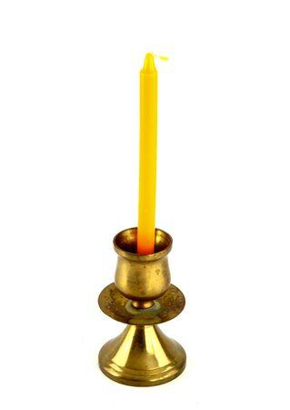 candle holder  isolated on white photo