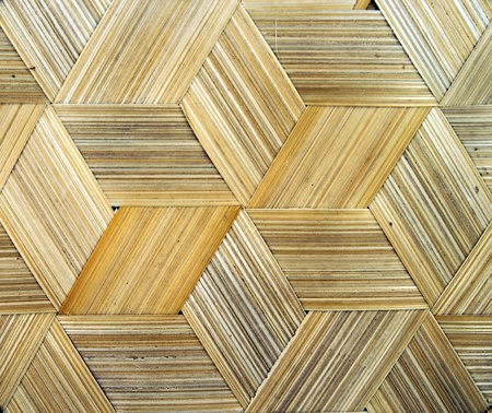 woven surface: cerca de la textura de bamb� Foto de archivo