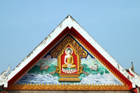 roof of buddha in Thailand photo