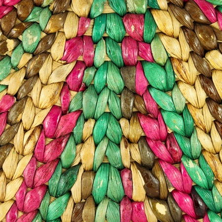 Closeup Structure of Colorful Rattan use a Background photo