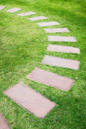 a way curve garden stone photo