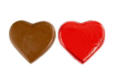 chocolates, Heart shape, isolate on white background photo