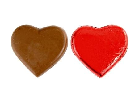chocolates, Heart shape, isolate on white background photo