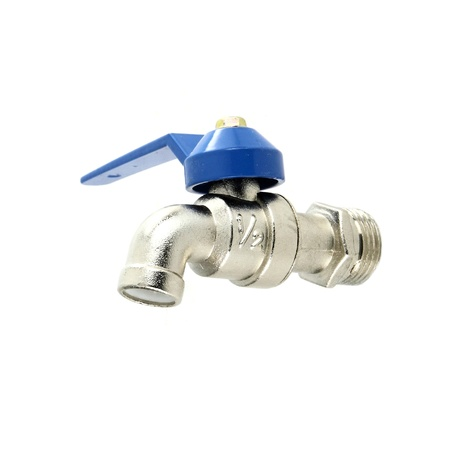 Water valve on white background photo