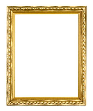 golden frame on white background