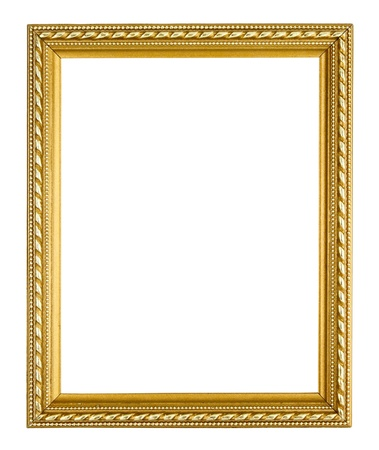 golden frame on white background