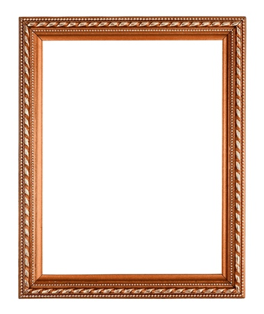 copper frame on white background photo