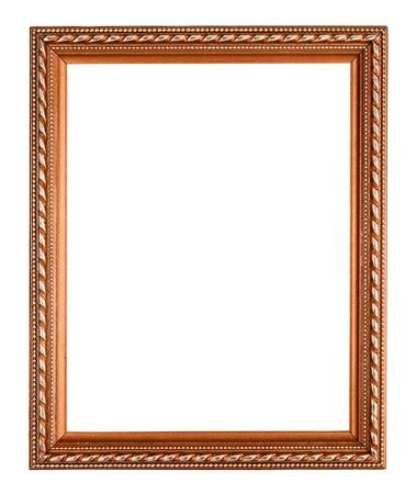 copper frame on white background photo