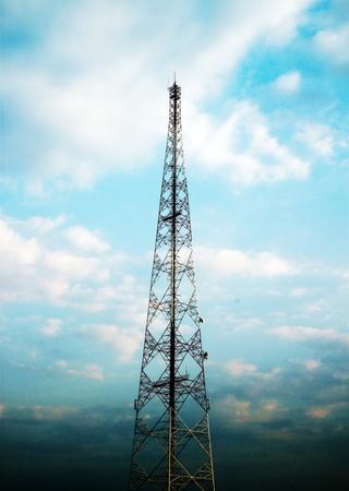 telecom tower and blue sky photo