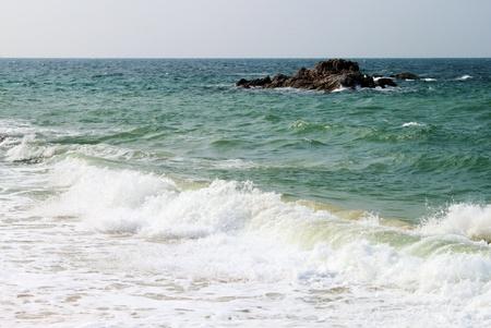 sea wave and stone Stock Photo - 12887886
