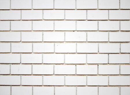 Square white brick wall background photo