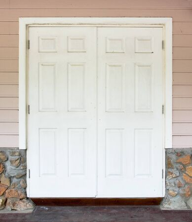 white door with the wall Stock Photo - 13046330