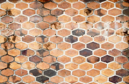 The background image of hexagonal clay tiles Stock Photo - 13527085
