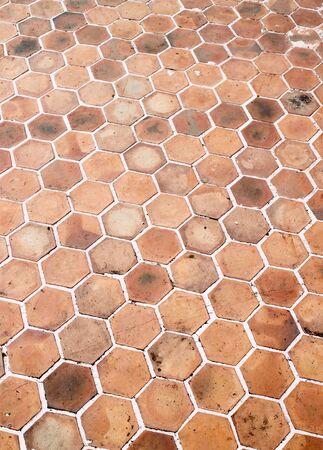 hexagon walkway background photo
