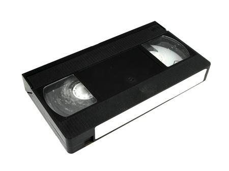 vhs videotape: video cassette on white background